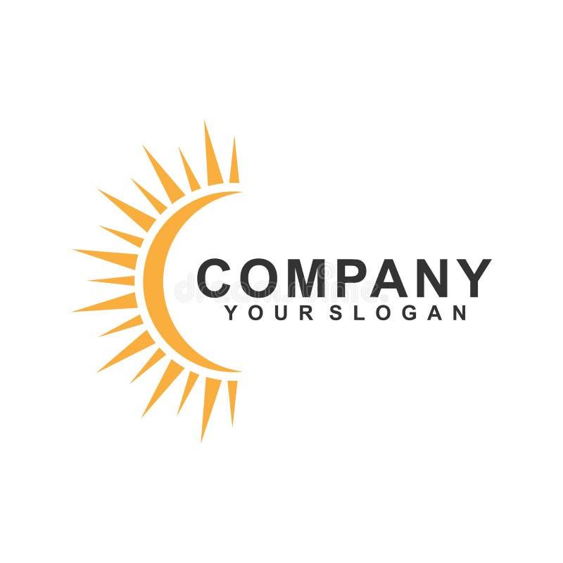 vettore di progettazione del modello di logo del sole, aumento, giallo illustrazione di stock