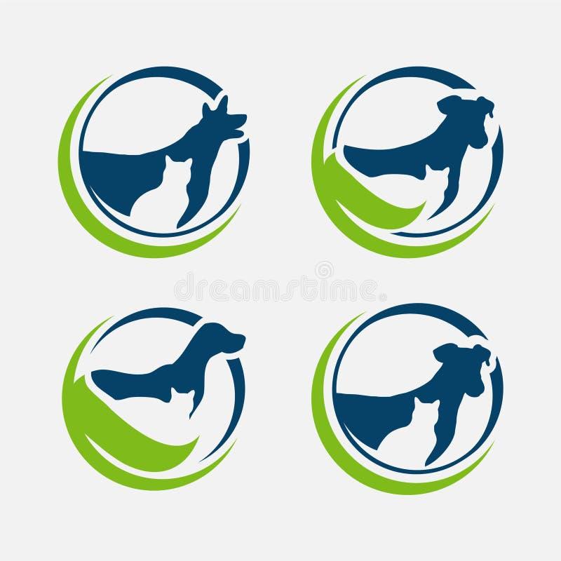 Vettore di progettazione del negozio di cura di animale domestico su fondo bianco, ENV 8, ENV 10 royalty illustrazione gratis