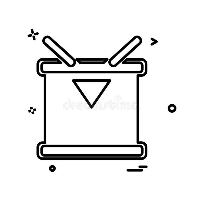Vettore di progettazione dell'icona del tamburo illustrazione di stock