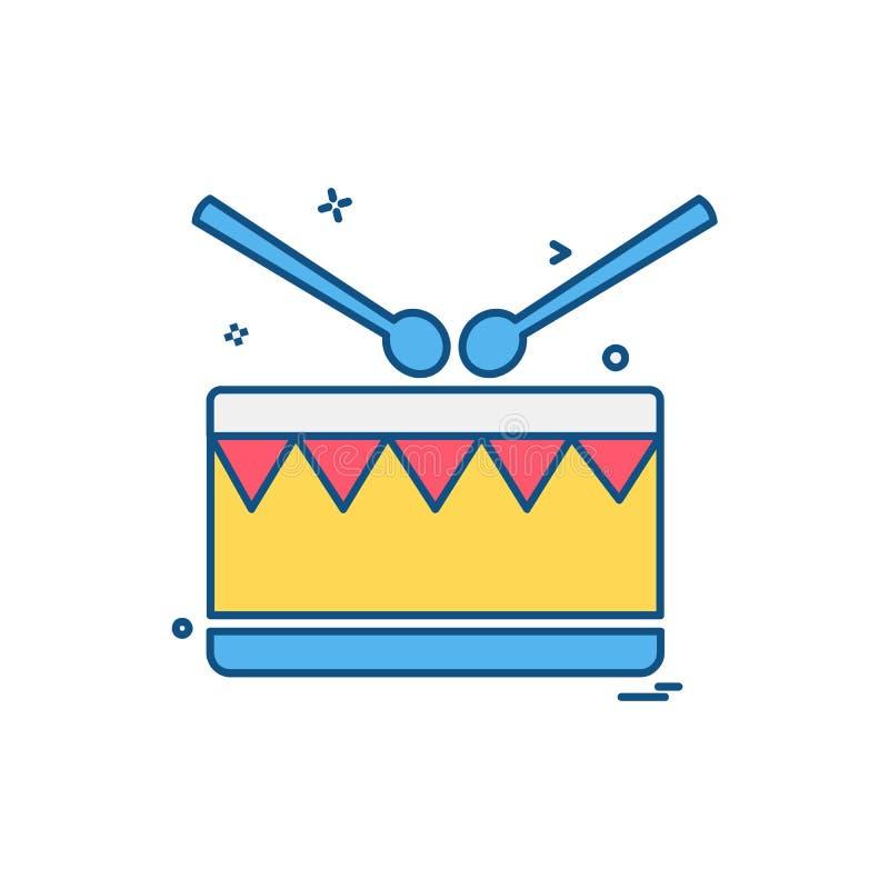 Vettore di progettazione dell'icona del tamburo royalty illustrazione gratis