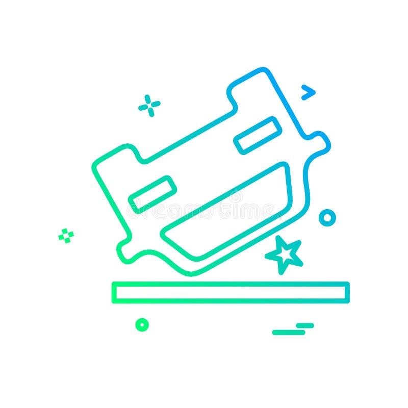 Vettore di progettazione dell'icona di incidente royalty illustrazione gratis