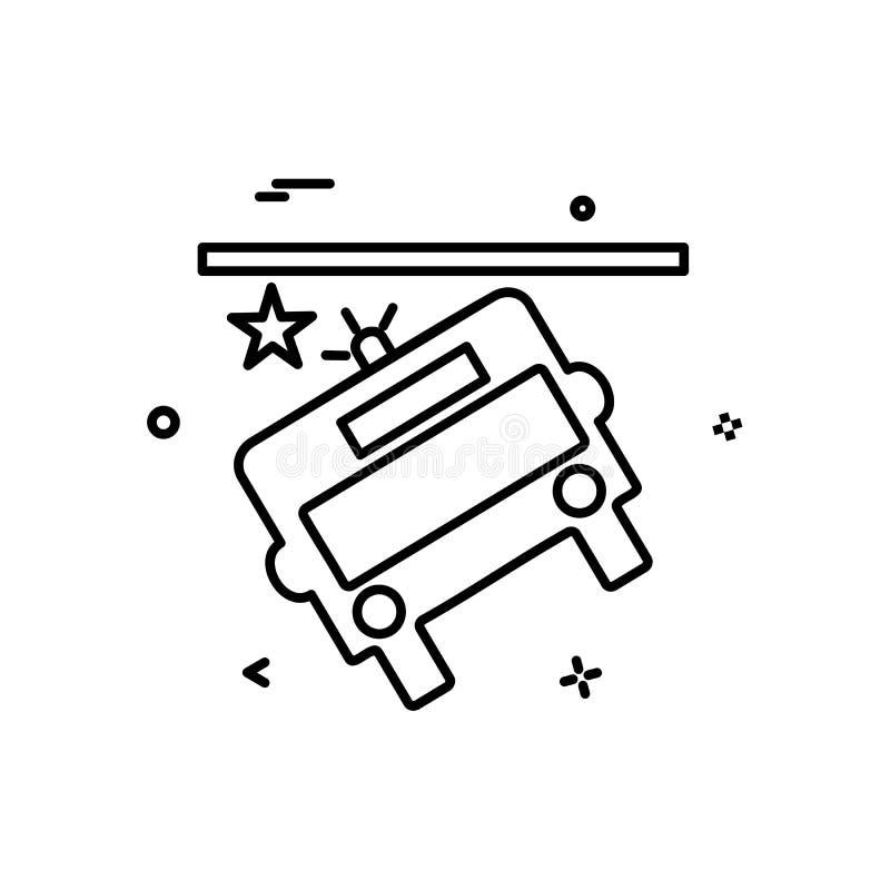 Vettore di progettazione dell'icona di incidente del bus illustrazione vettoriale