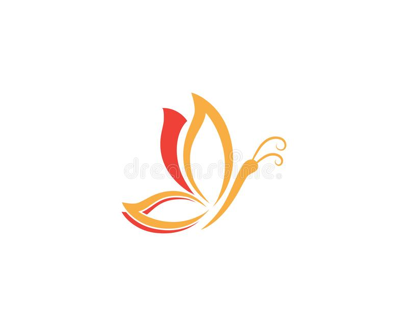 Vettore di progettazione dell'icona di Logo Template Vector della farfalla illustrazione vettoriale
