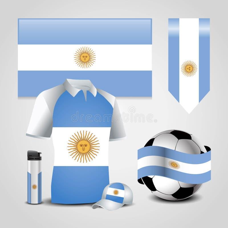 Vettore di progettazione della bandiera dell'Argentina illustrazione di stock