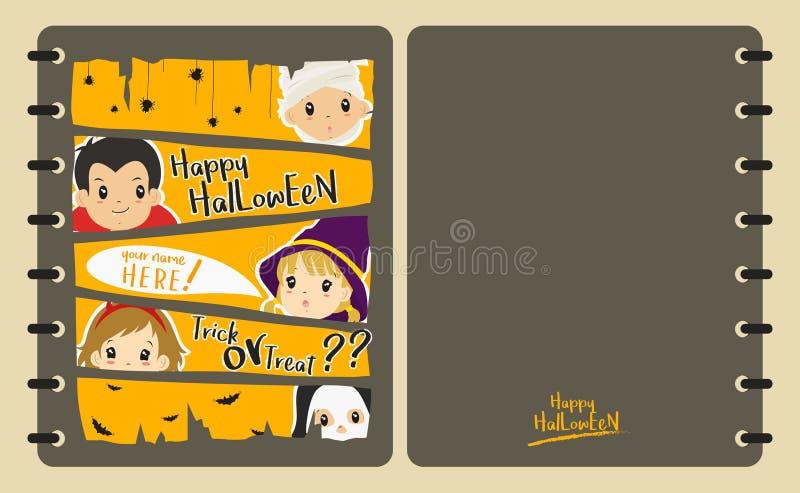 Vettore di progettazione della copertura del taccuino di Halloween royalty illustrazione gratis