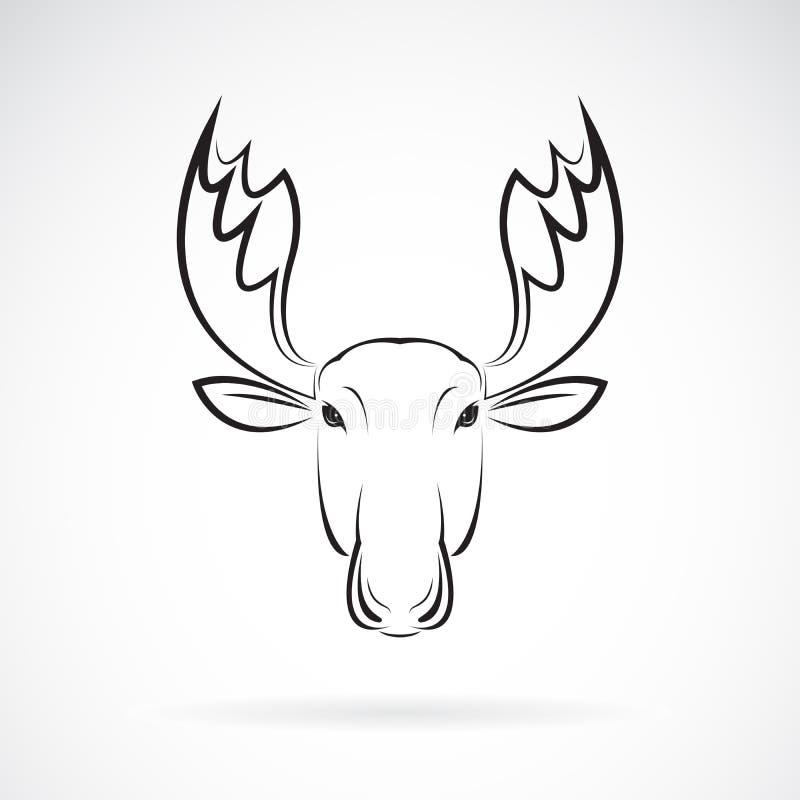 Vettore di progettazione della testa dei cervi delle alci su fondo bianco animale illustrazione di stock