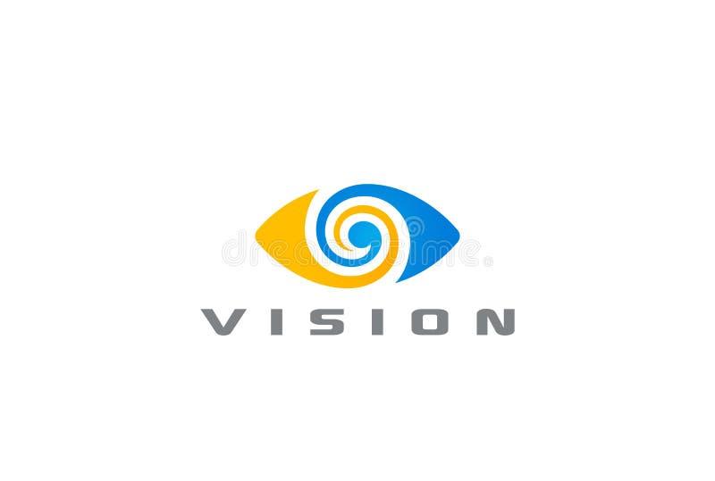 Vettore di progettazione di logo dell'estratto di visione di logo dell'occhio illustrazione vettoriale