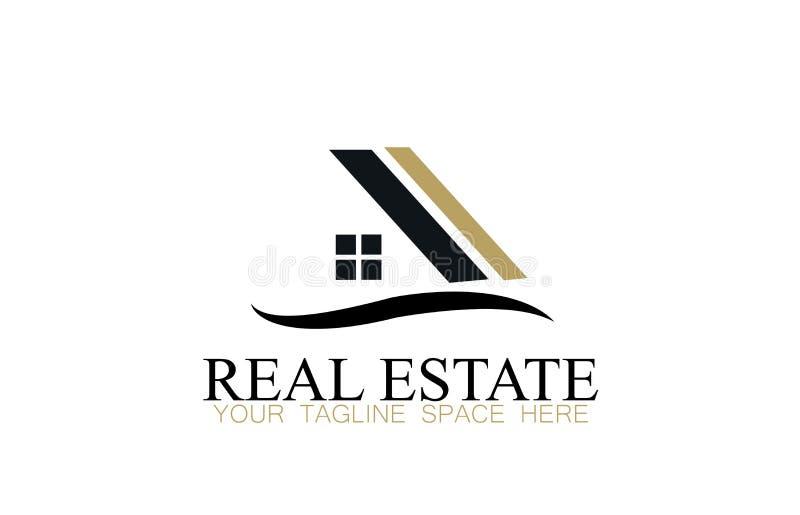 Vettore di progettazione di logo del bene immobile illustrazione vettoriale