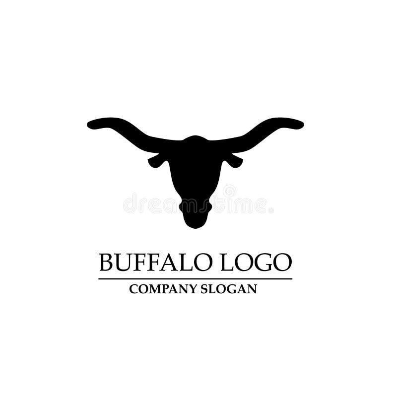Vettore di progettazione di logo della Buffalo Icona di vettore del toro Logo capo dell'animale royalty illustrazione gratis