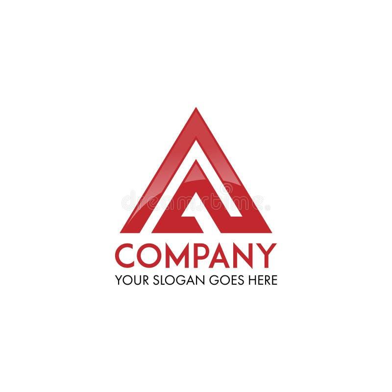Vettore di progettazione di logo della lettera di AP illustrazione vettoriale