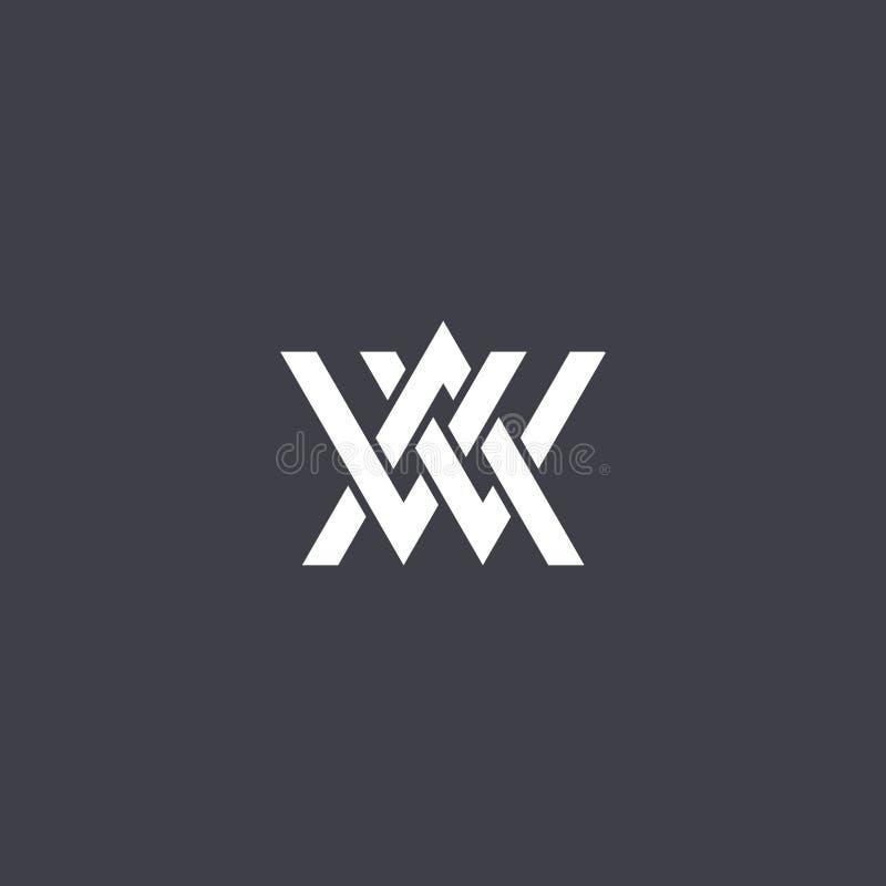 Vettore di progettazione di logo della lettera dell'aw royalty illustrazione gratis