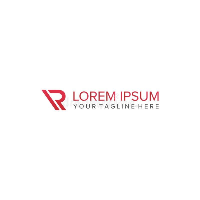 Vettore di progettazione di logo della lettera di IR illustrazione vettoriale