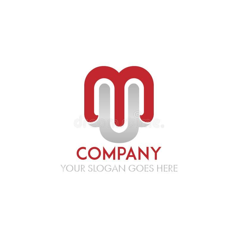 Vettore di progettazione di logo della lettera della MU illustrazione di stock