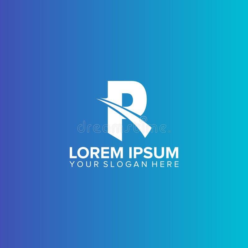 Vettore di progettazione di logo della lettera di PR illustrazione di stock