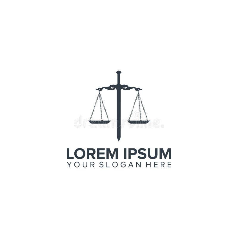 Vettore di progettazione di logo di legge e della lama royalty illustrazione gratis