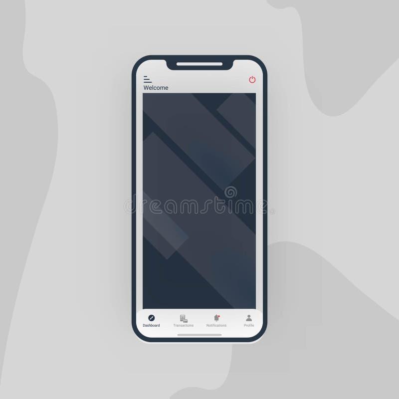 Vettore di progettazione di logo di Smartphone illustrazione vettoriale