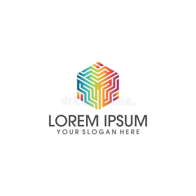 Vettore di progettazione di logo di tecnologia e di affari illustrazione vettoriale