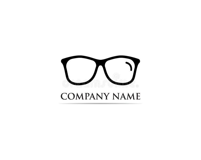 Vettore di progettazione di logo di vetro illustrazione di stock