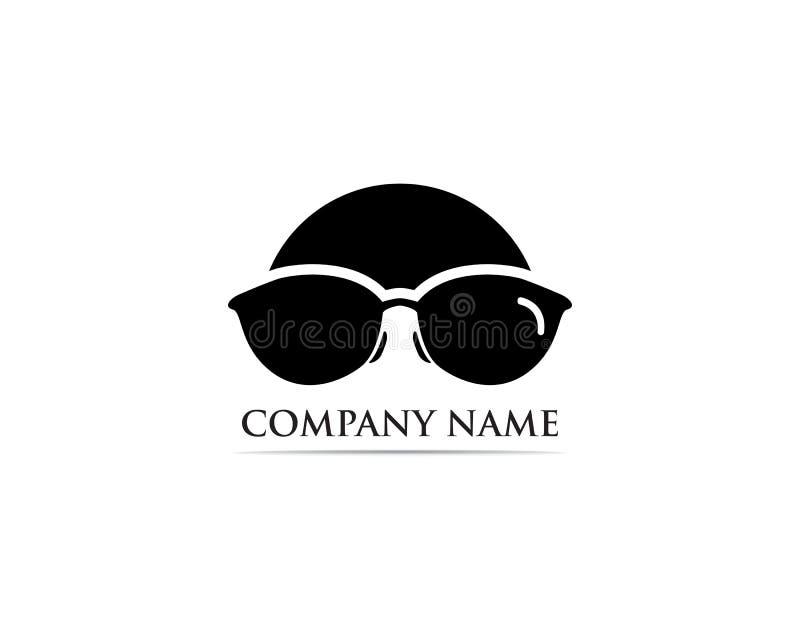 Vettore di progettazione di logo di vetro illustrazione vettoriale