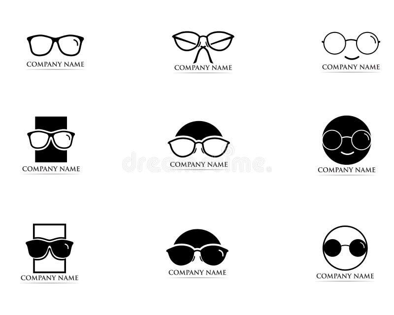 Vettore di progettazione di logo di vetro royalty illustrazione gratis