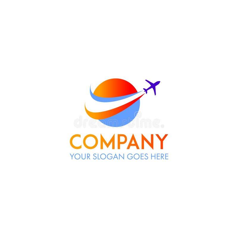 Vettore di progettazione di logo di viaggio illustrazione di stock