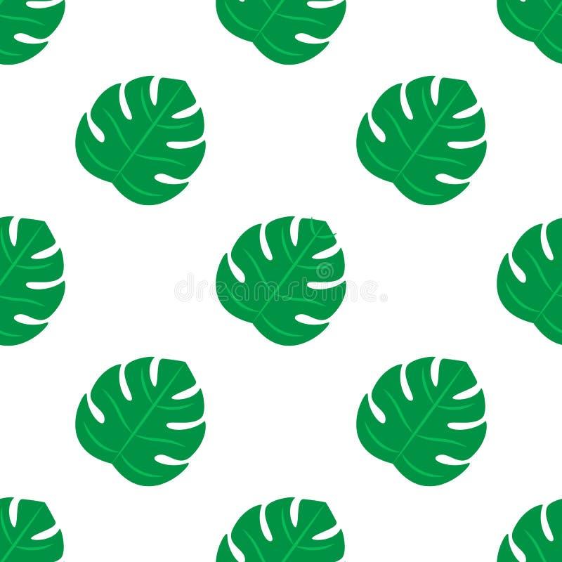 Vettore di progettazione di Pettern delle foglie Reticolo tropicale senza giunte dei fogli illustrazione vettoriale