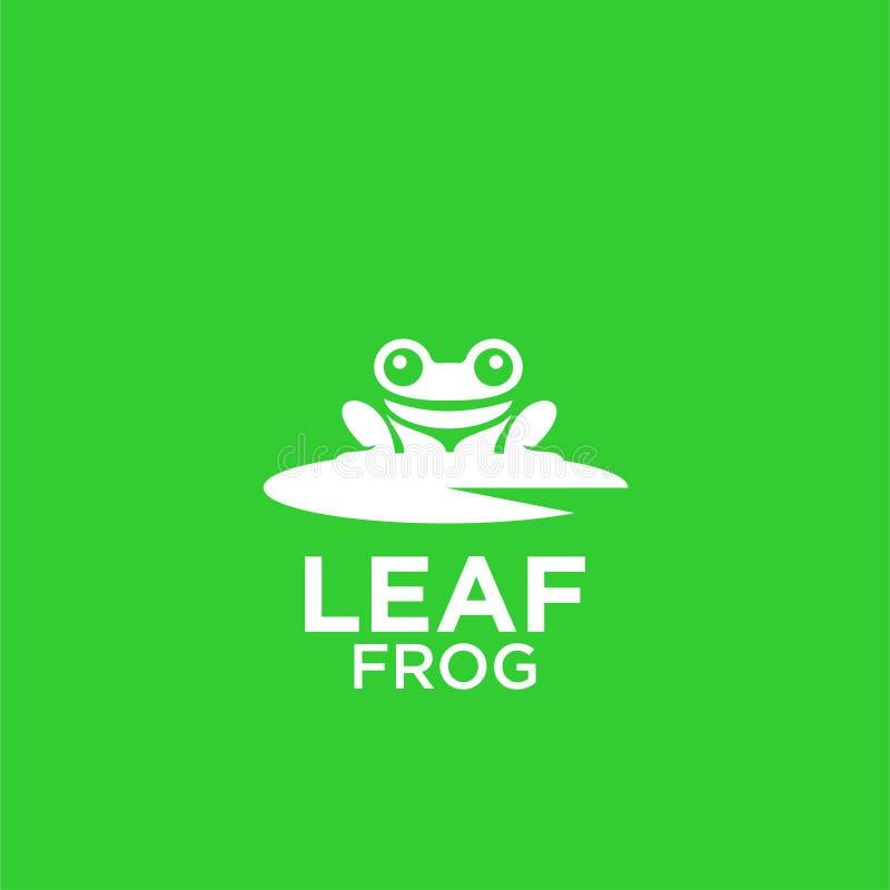 Vettore di progettazioni dell'icona di logo del fondo di verde della rana illustrazione vettoriale