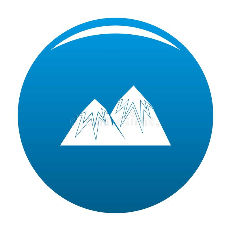 Vettore di punta del blu dell'icona della neve illustrazione vettoriale
