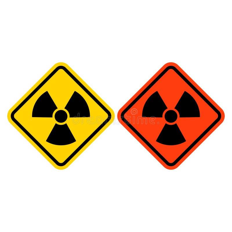Vettore di riserva di rischio di radiazione di vettore isolato su backgrund bianco Archivi del png illustrazione vettoriale