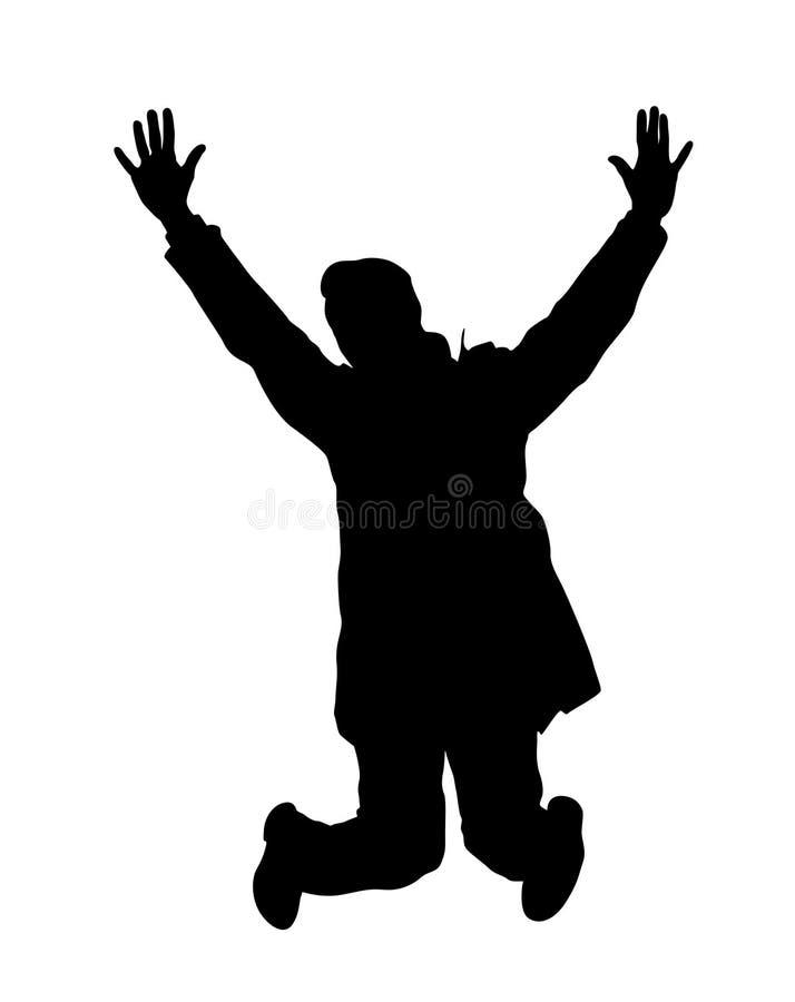 Vettore di salto dell'uomo illustrazione vettoriale