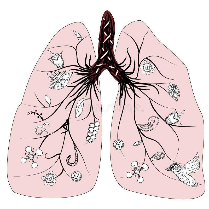 Vettore di salute del polmone illustrazione di stock