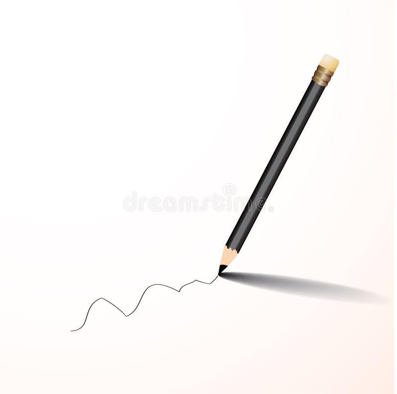 Vettore di scrittura della matita immagine stock
