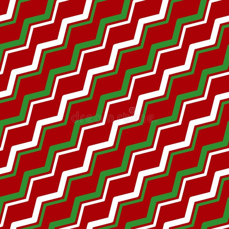 Vettore di serie di colore rosso-verde bianco illustrazione di stock