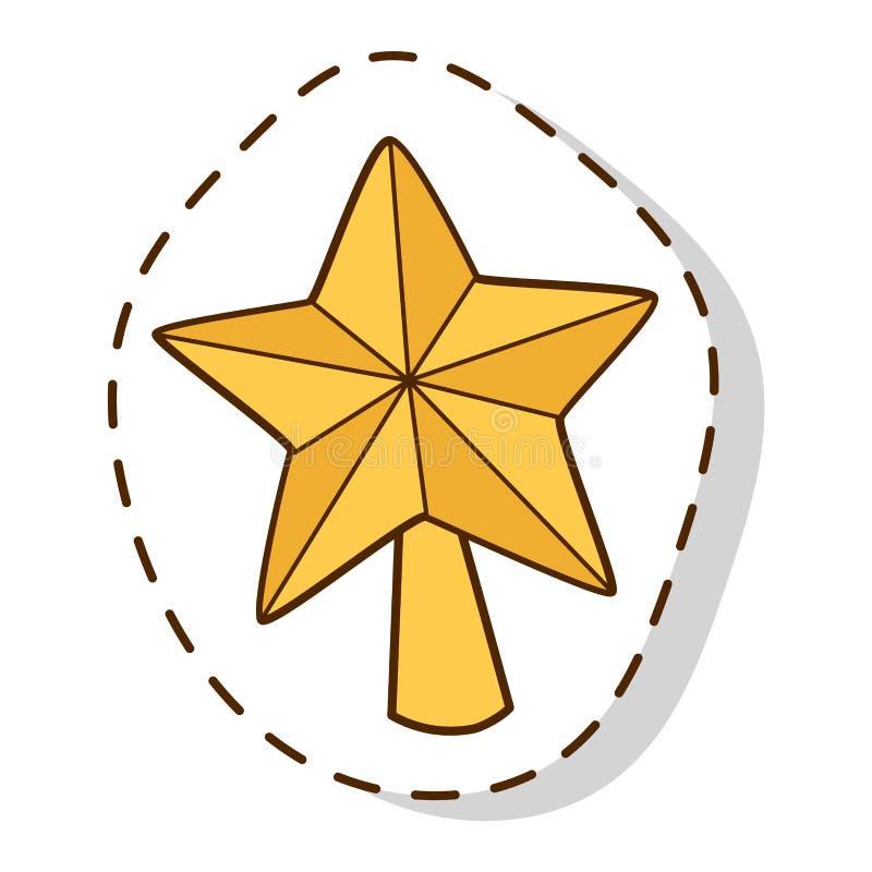 Vettore di simboli dell'icona di Natale illustrazione vettoriale