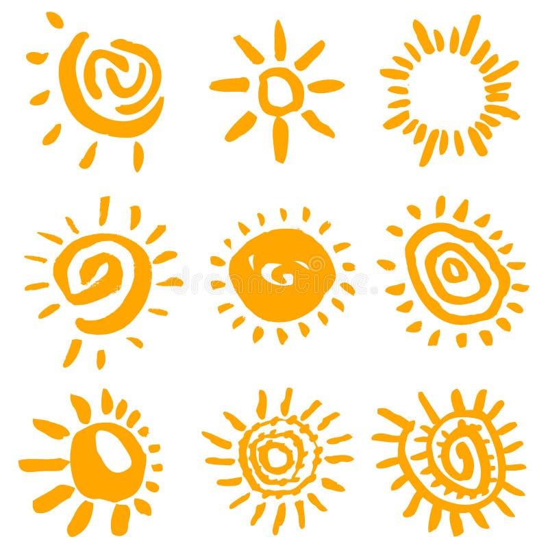 Vettore di simboli di Sun royalty illustrazione gratis