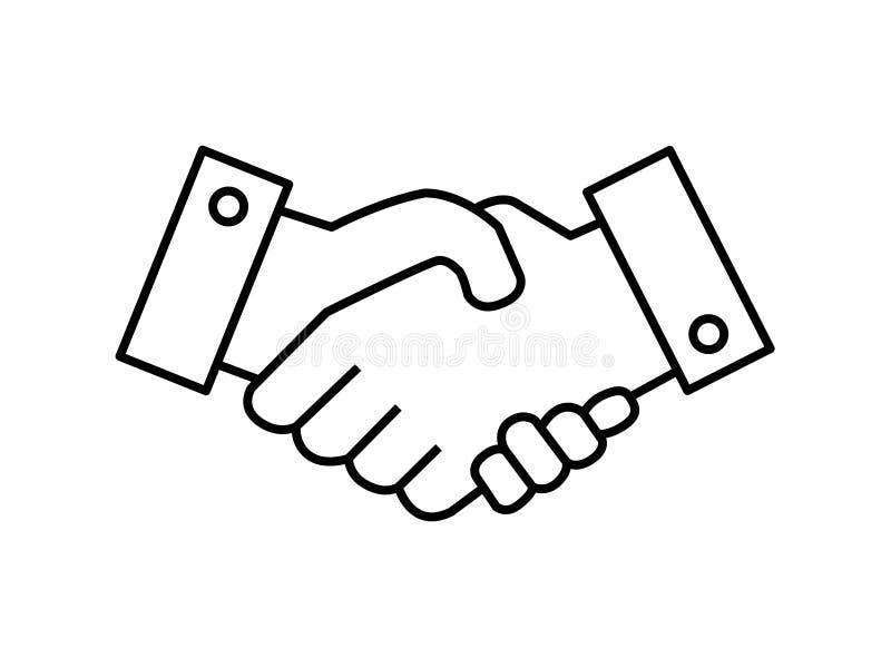 Vettore di simbolo della stretta di mano royalty illustrazione gratis
