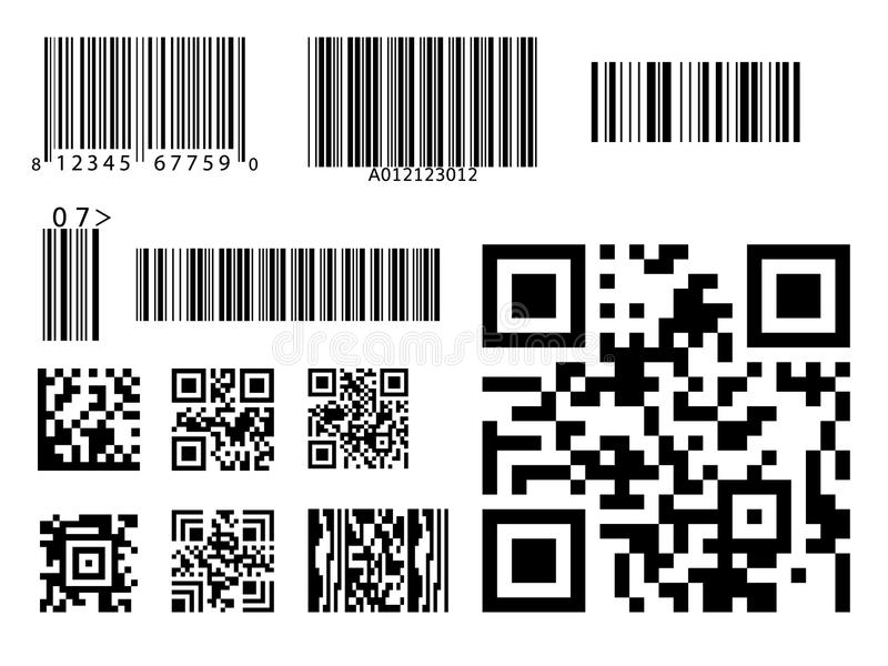 Vettore di simbolo di codice del qr dell'icona di codice a barre royalty illustrazione gratis