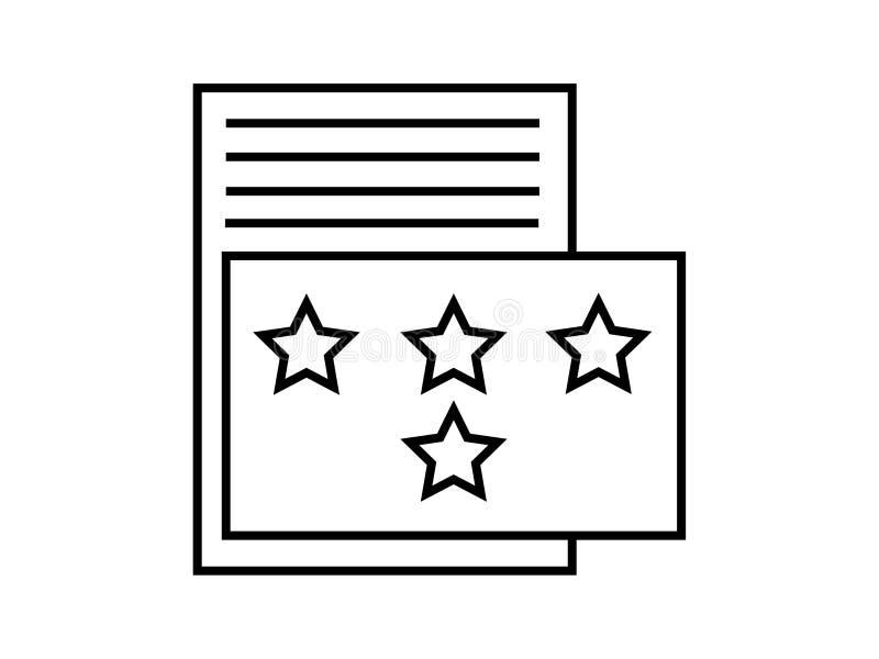 Vettore di simbolo di valutazione illustrazione di stock