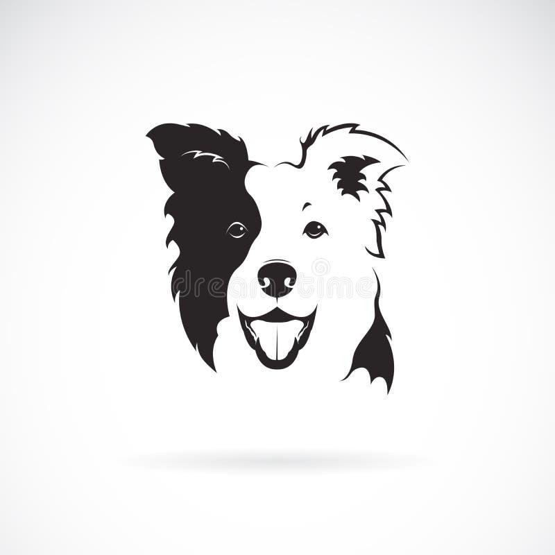 Vettore di un cane di border collie su fondo bianco pet animale Logo o icona del cane Illustrazione stratificata editabile facile illustrazione di stock