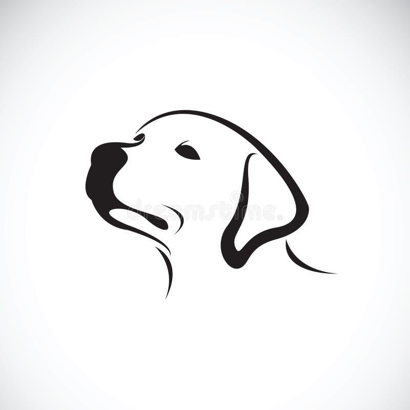Vettore di un documentalista di headLabrador del cane su fondo bianco pet royalty illustrazione gratis