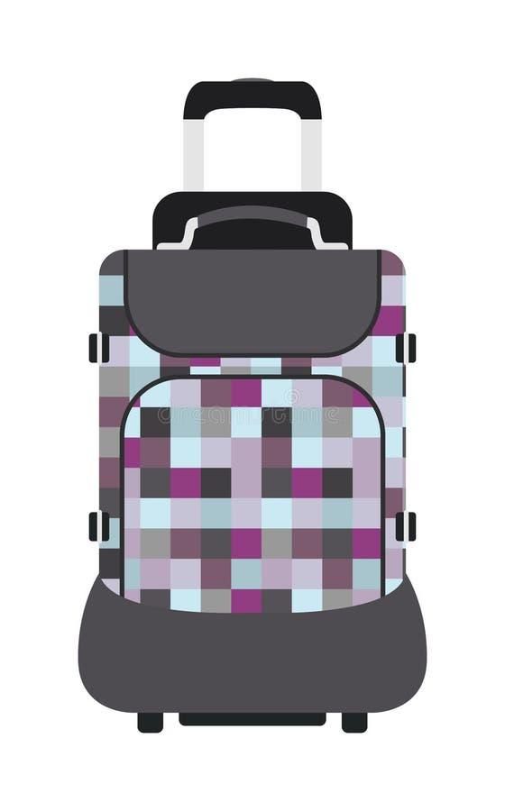 Vettore di vacanza del bagaglio di viaggio della borsa di viaggio della valigia di viaggio illustrazione vettoriale