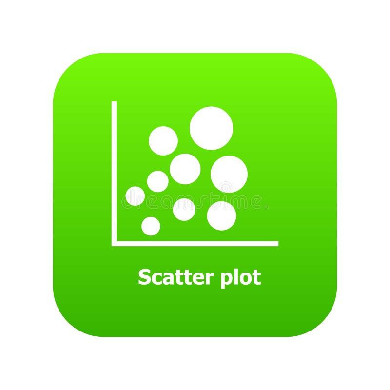 Vettore di verde dell'icona del diagramma dello spargimento illustrazione di stock