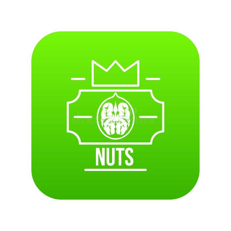 Vettore di verde dell'icona della noce royalty illustrazione gratis