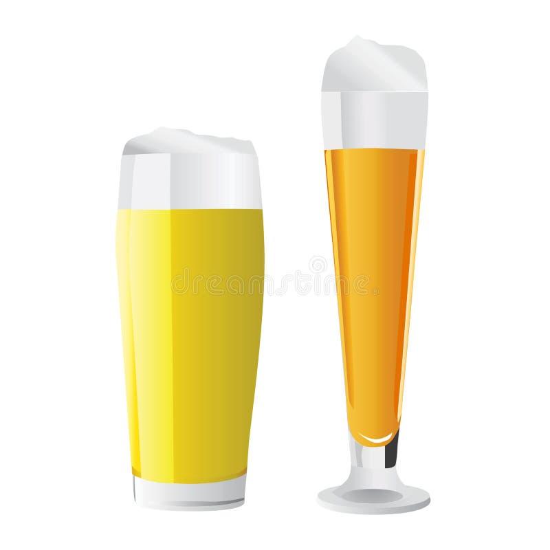 Vettore di vetro di birra illustrazione vettoriale