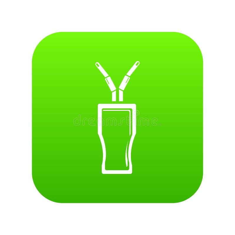 Vettore di vetro di verde dell'icona della cola royalty illustrazione gratis