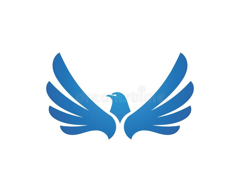 Vettore di Wing Falcon Logo Template illustrazione di stock