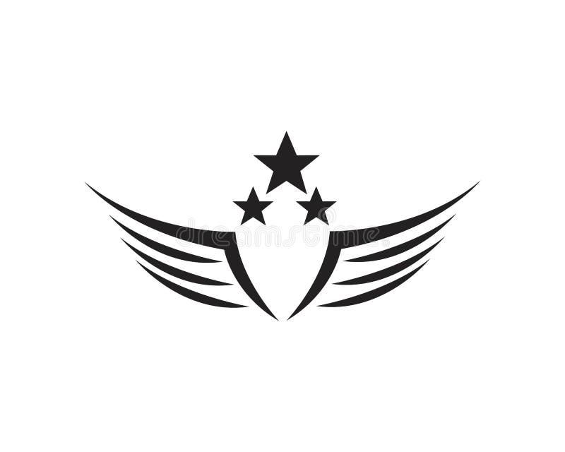 Vettore di Wing Falcon Logo Template illustrazione vettoriale