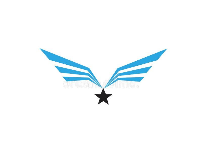 Vettore di Wing Falcon Logo Template royalty illustrazione gratis