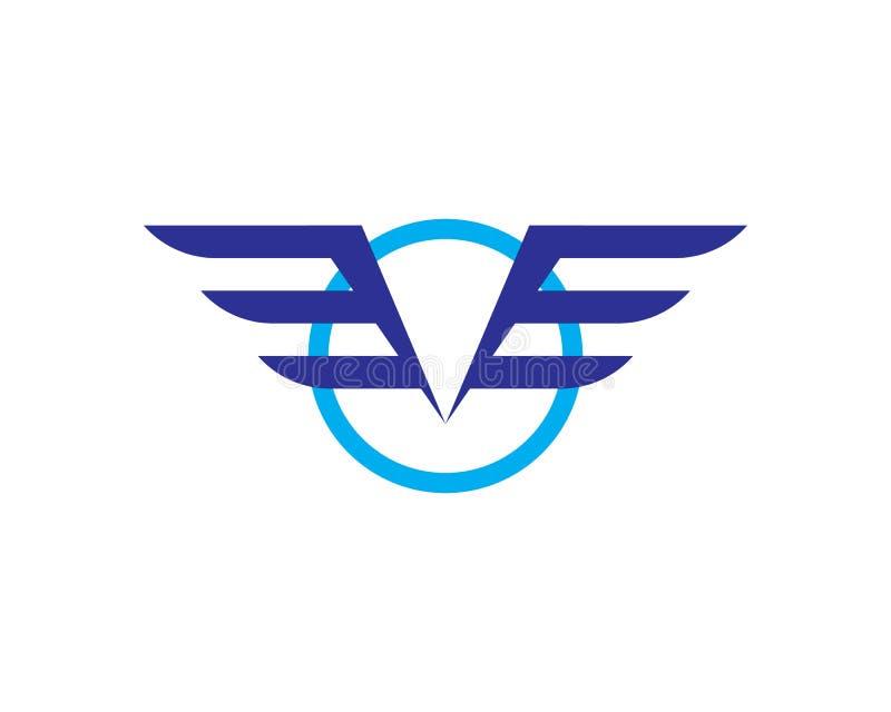 Vettore di Wing Logo Template del falco illustrazione di stock