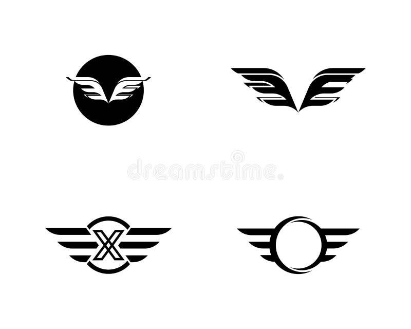 Vettore di Wing Logo Template del falco royalty illustrazione gratis